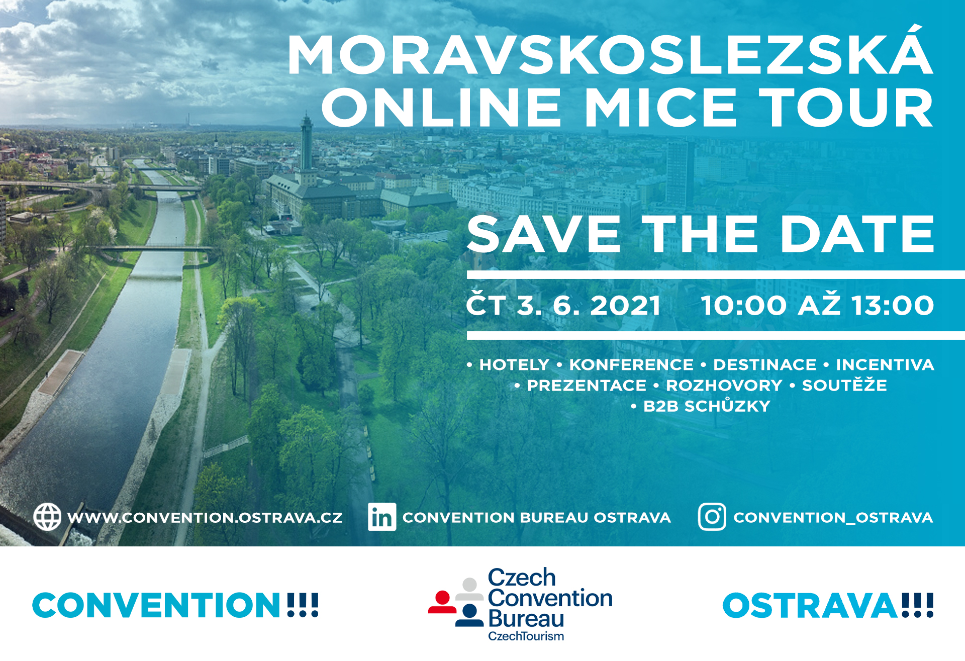 Moravskoslezská online MICE tour - save the date
